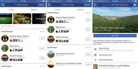 Social Media Chat Discoveries - Facebook 'Discover' Finds Groups of Like-Minded People to Talk to