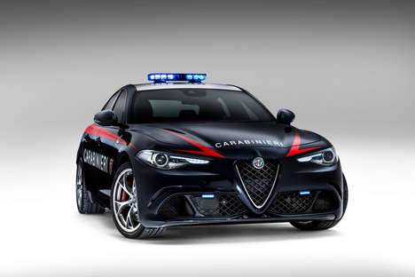 Luxe Police Autos - The Alfa Romeo Giulia Quadrifoglio Cop Cars are Designed for Special Operations