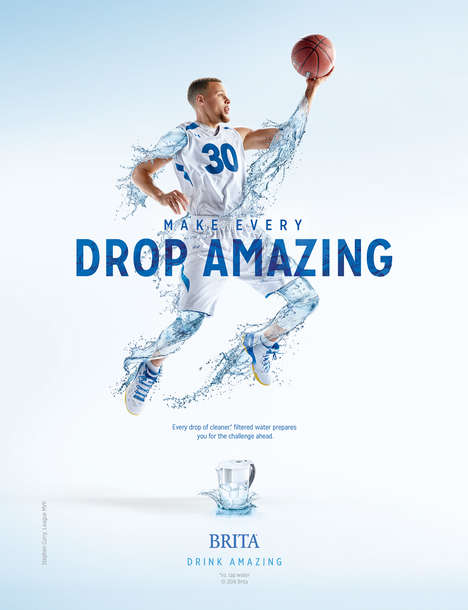 Basketball-Inspired Water Ads - The Brita Drink Amazing Campaign Stars Stephen Curry