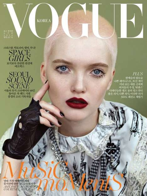 Edgy Button-Up Fashion - Top Model Ruth Bell Covers the Latest Vogue Korea Issue