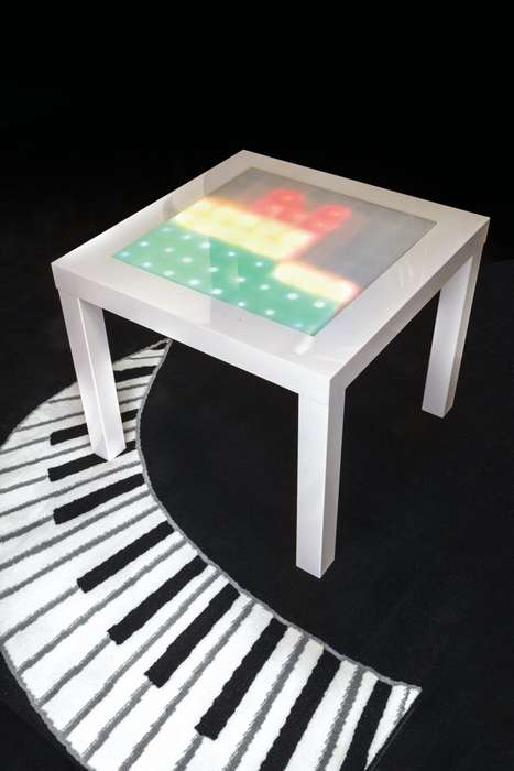 DIY Music Visualizer Furniture - This Arduino Music Visualizer is Made Using an IKEA Coffee Table
