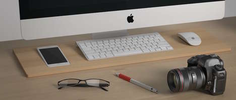 Tech-Organizing Desk Docks - The Tamm Desk Organizer and Keyboard Holder Has Room for Everything