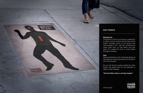 Human Target Ads - The Stop Gun Violence Campaign Focuses on Danger of Errant Bullets