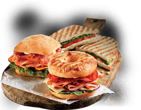 Grilled Bagel Sandwiches - The Italiano Grilled Bagel Sandwich Puts a Twist on Lunchtime Favorite