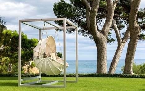 Armadillo-Inspired Outdoor Chairs - The Armadillo Swinging Garden Chair Provides Tranquil Relaxation