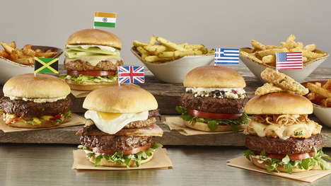 International Burger Menus - The World Burger Tour Features Burgers Inspired by Global Cuisine