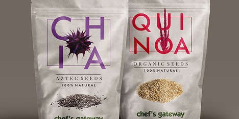 Healthy Seed Branding - This Chia and Quinoa Packaging is Fresh, Simple and Eye-Grabbing