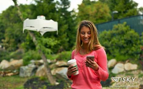 Coffee-Delivering Drones - The Uvionix Delivery Drone Service Provides Hot Coffee and Treats