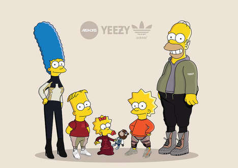 Sneakerhead Cartoon Families - Olga Wojcik Gives The Simpsons a Drastic Streetwear Makeover