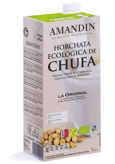 Organic Tigernut Beverages - Amandin's Tigernut Drink is a Flavorful Alternative to Milk