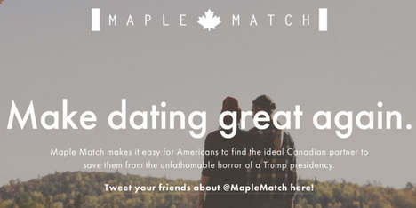 Canadian Matchmaking Platforms - The Maple Match Website Sets Americans Up on Dates with Canadians