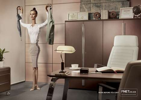 "Humanized Office Fixture Ads - The PNet Campaign Urges Workers to ""Move Before They Can't"""