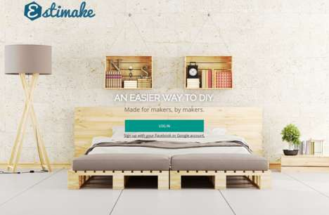 Project Management Platforms - The 'Estimake' Platform Helps Users Organize DIY Projects