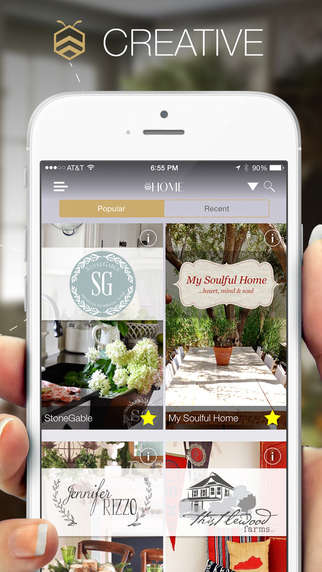 Social Design Platforms - The Bhome App Organizes Popular Home and Gardening Blogs in One Place