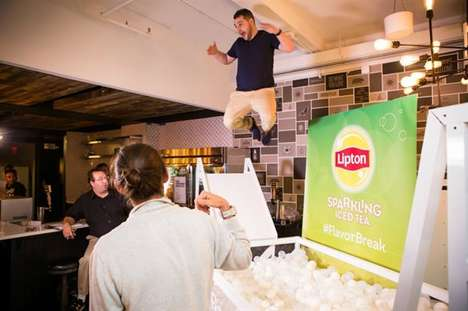 Branded Office Breaks - Lipton's 'Flavor Break' Tour Provides Relief from Workday Stresses