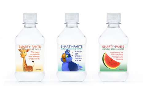Child-Targeting Water Bottles - Smarty Pants Water Taps into Kids Desires to Outwit Adults