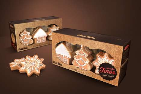 Craft Paper Cookie Packaging - The Fluss Haus Biscoitos Finos Cookie Box is Inspired by DIY Design
