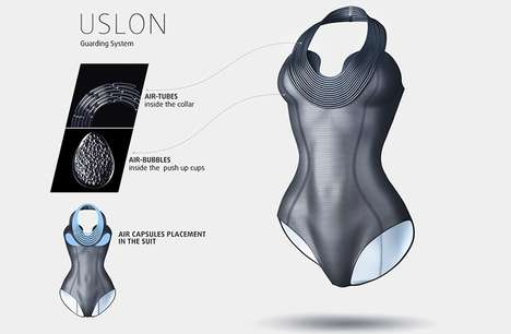 Buoyant Floating Swimwear - The Ulson Bathing Suit Line is Engineered to Keep Swimmers Afloat