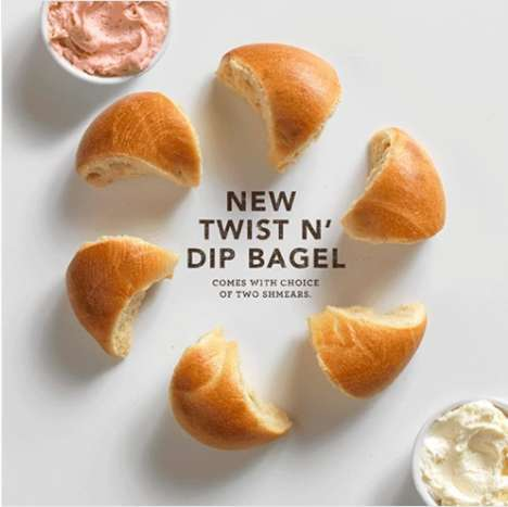 Dippable Pull-Apart Bagels - The New Twist N' Dip Bagel Puts an Interactive Twist on Breakfast