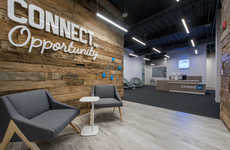 Playful Networking Offices - Omaha's LinkedIn Headquarters Supports Creativity and Exchange of Ideas