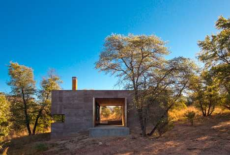 Off-Grid Stone Residences - This Off-Grid House Is Made From a Volcanic Rock Material