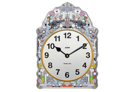 Quirky Contemporary Clocks - The Comtoise Clock is Designed with Random Images