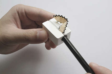 Fused Blade Sharpeners - The Zirconia Utensil Sharpener's Body Doubles as the Cutting Surface