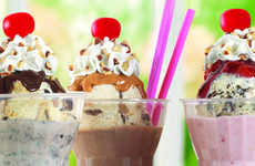 Ice Cream-Topped Milkshakes - The New Sundae Shakes from Baskin-Robbins Combine Two Tasty Treats