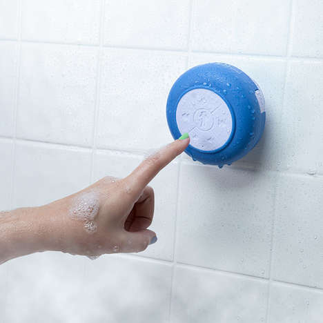 Shower-Friendly Speakers - This Bluetooth Waterproof Speaker Lets You Answer Calls While Bathing
