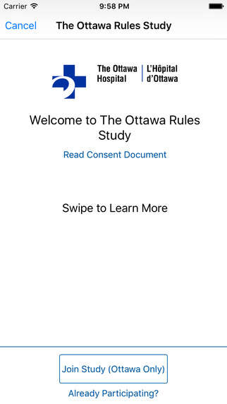 Decision-Making Diagnostic Apps - The Ottawa Rules App Helps Doctors Decide On Scans For Patients