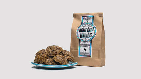 Straight Bourbon Whiskey Cookies - The No. 4 St. James Chocolate Chip Bourbon Bombs are Scrumptious