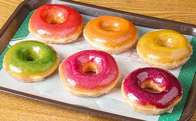Sparkly Rainbow Donuts - The New Rainbow Gloss Donuts are Topped with a Sparkly Glaze