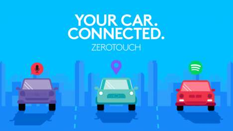 Handsfree Device Control Mounts - Logitech 'ZeroTouch' Takes Handsfree Smartphone Control to the Car