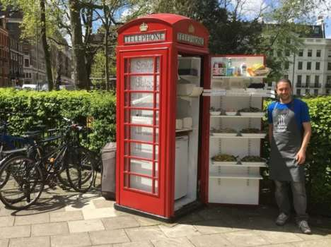 Phone Booth Salad Shops - This Pop-Up Salad Shop is Housed Inside an Old UK Telephone Booth
