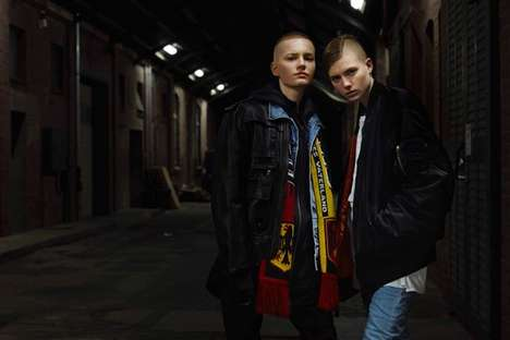 Soccer Hooligan Editorials - This Tomboy Fashion Story Celebrates a Soccer Fan Style Aesthetic