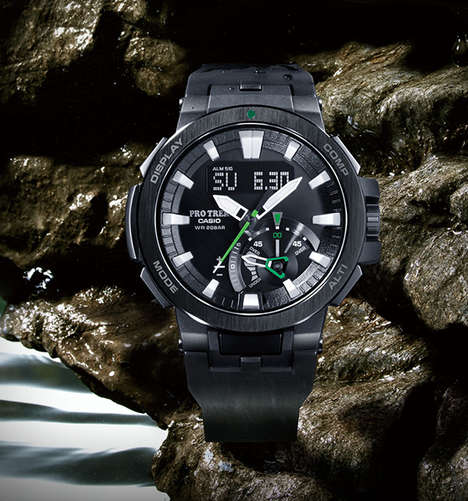 Environment-Analyzing Adventure Watches - The Casio Pro Trek PRW-7000 Measures Altitude and More