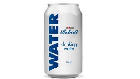 Charitable Canned Water - Labatt is Helping Firefighters in Canada One Can at a Time