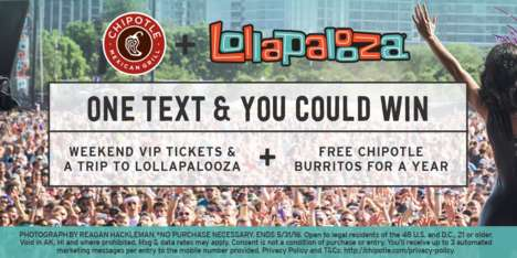 Burrito Chain Festival Promotions - This Fast Casual Chain is Offer VIP Tickets to Lollapalooza
