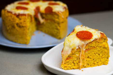 Sugary Pizza Cakes - This Hybrid Recipe Turns the Savory Fast Food Pie into a Decadent Torte