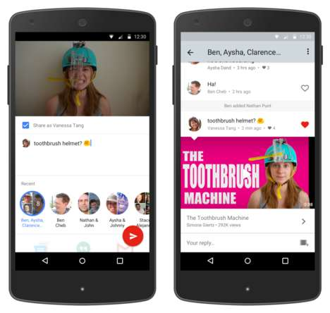 Video App Chat Platforms - The New YouTube Messenger Allows Users to Discuss Videos in the App