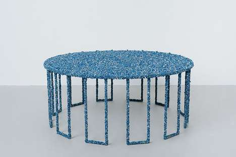 Crushed Gemstone Tables - Artist Samuel Amoia Creates Furniture Pieces Adorned With Precious Rocks