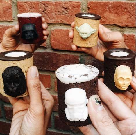 Pop Culture Cookie Shooters - The Dirty Cookie Creates Edible Shot Glasses With Chocolate Characters