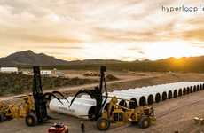Futuristic Transportation Branding - The Hyperloop One Project Features Distinct Messaging and Goals