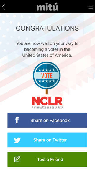 Latino Voting Apps - The Latino Vote App Helps Latinos Register For Presidential Elections