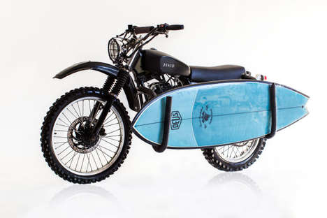 Surboard-Carrier Motorbikes - The Deus ex Machina is a Bike Designed for Summer Water Activities