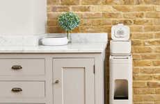 Slender Waste Organizers - The Joseph Joseph 'Stack' Waste Bin System Helps Declutter Kitchens