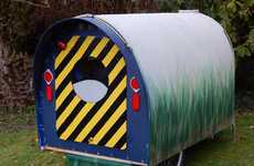 DIY Eco Campers - This Diy Camper is Surprisingly Made from Plastic Campaign Signs
