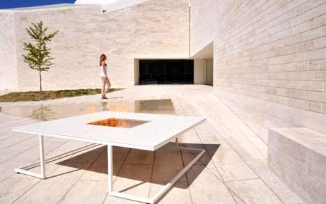 Outdoor Designer BBQ Tables - The Cesarré 'Riga' Barbecue Table Makes Outdoor Grilling More Chic