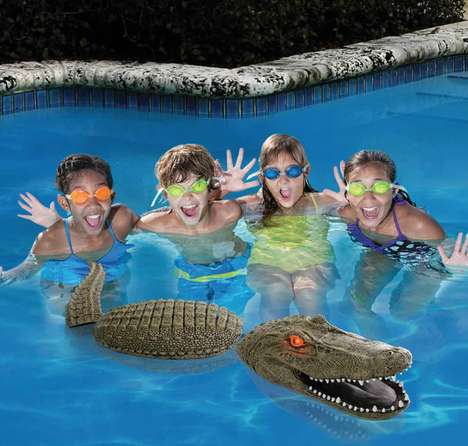 Faux Alligator Pool Guards - The Pool Guarding Gator Keeps Birds Out of and Away from Pool Areas