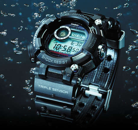 Digital Diving Timepieces - The Casio's G-Shock Frogman Watch is Made for High Pressure Water Use